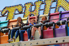 Terror ride at fairground fun fair Stock Photos