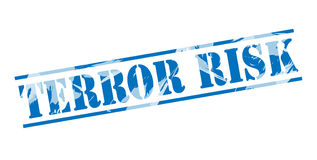 Terror risk blue stamp. On white background Stock Photo