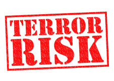 TERROR RISK. Red Rubber Stamp over a white background Stock Images