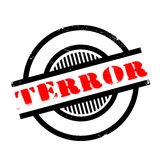 Terror rubber stamp Stock Photo