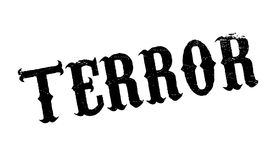 Terror rubber stamp Stock Image