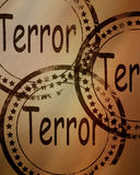 Terror stamp on a grunge background Royalty Free Stock Photography