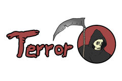 Terror symbol. Creative design of terror symbol Royalty Free Stock Image