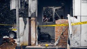 Terrore della via di Thamrin a Jakarta Immagini Stock
