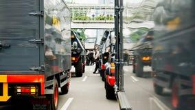 Terrore della via di Thamrin a Jakarta Fotografie Stock