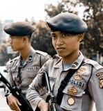 Terrore della via di Thamrin a Jakarta Fotografie Stock Libere da Diritti