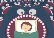 Terrores de la noche de los niños stock de ilustración