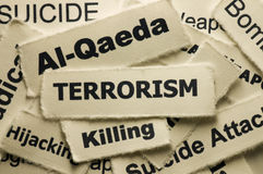 Terrorism. Picture of a word terrorism Stock Images