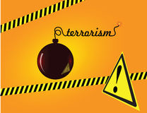 Terrorism. Creative on terror bomb with a fuse sign of terrorism. Vector illustration Royalty Free Stock Images