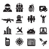 Terrorism , Assassin, killer icons set Stock Images