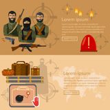 Terrorism banners Royalty Free Stock Photography