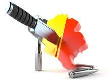 Terrorism in Belgium vector illustration
