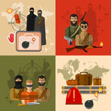 Terrorism concept world terror Royalty Free Stock Photos