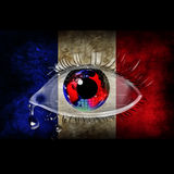 Terrorism. Death in France.Sorrow for the dead people Stock Image