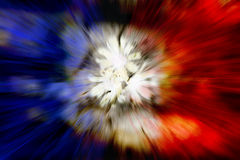 French Flag Exploding Abstract Stock Images