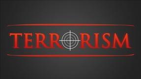 Terrorism - hairline cross. Terrorism illustration - white hairline cross in red lettering Royalty Free Stock Photography