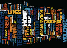 Terrorism In The Home Text Background Word Cloud Concept Stock Image