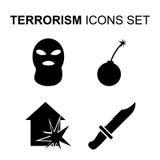Terrorism icons set. Vector illustration. Terrorism icons set. Silhouette vector illustration Royalty Free Stock Image