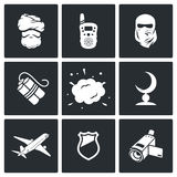 Terrorism icons. Vector Illustration. Stock Images