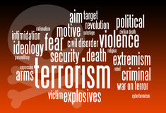Terrorism. Relevant and important issues regarding terrorism Stock Photography