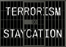 Terrorism Staycation In Jail Illustration Stock Image