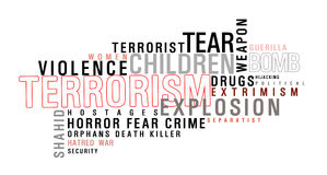 Terrorism word cloud Royalty Free Stock Image