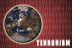 Terrorisme global illustration stock