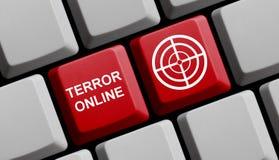 Terrorisme online royalty-vrije illustratie