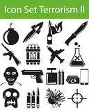 Terrorisme réglé II d'icône Image libre de droits