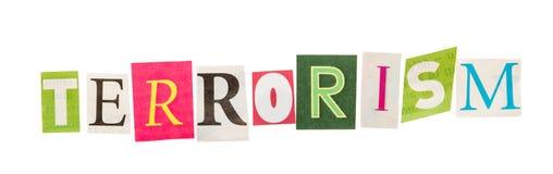 Terrorismeinschrijving van verwijderde brieven Royalty-vrije Stock Fotografie