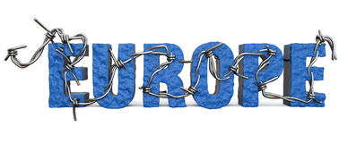 Terrorismo del alambre del Europa Fotografía de archivo libre de regalías