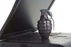 Terrorismo del calcolatore Fotografia Stock Libera da Diritti