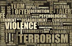 Terrorismo del título de las noticias Imagen de archivo libre de regalías