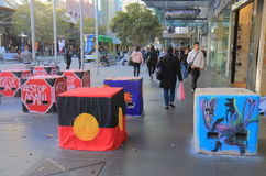 Terrorismusschiffspoller Melbourne Australien Lizenzfreies Stockfoto
