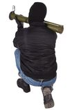 Terrorist with bazooka grenade launcher Stock Images