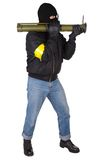Terrorist with bazooka grenade launcher Royalty Free Stock Photos