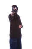 Terrorist, der 2 schießt lizenzfreies stockbild