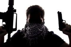 Terrorist eller Sepcial Ops soldat Arkivfoton