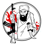 Terrorist. This is file of EPS8 format Royalty Free Stock Photography