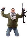 Terrorist give oneself up Stock Images