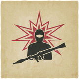 Terrorist with grenade launcher Royalty Free Stock Photography