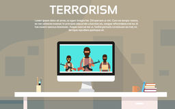 Terrorist Group Television Information Terrorism Concept Stock Images