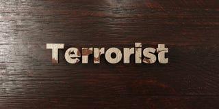 Terrorist - grungy trärubrik på lönn - 3D framförd fri materielbild för royalty Fotografering för Bildbyråer