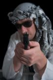 Terrorist with gun Royalty Free Stock Photos