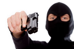 Terrorist with gun Royalty Free Stock Photo