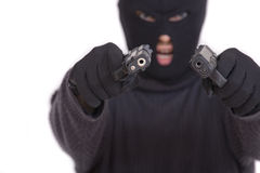 Terrorist with guns Royalty Free Stock Image