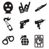 Terrorist Icons Royaltyfri Fotografi