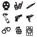 Terrorist Icons Royalty Free Stock Photography