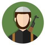 Terrorist islamisk extremist med Kalashnikovgeväret Royaltyfria Foton