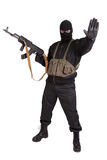Terrorist with kalashnikov Stock Photos